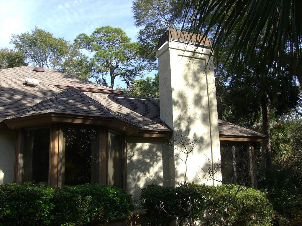 Sea Pines Right Side Elevation Before Remodel