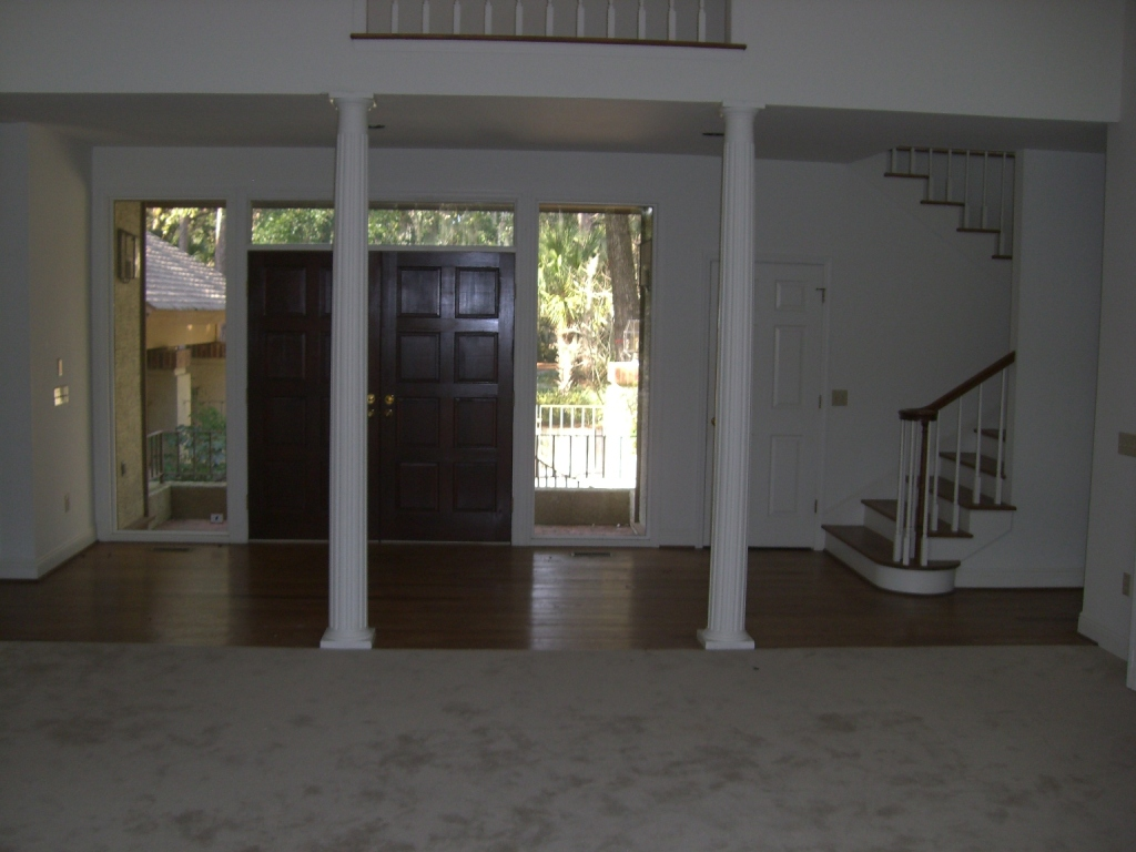 Sea Pines Entry Foyer Before Remodel